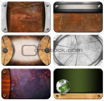 Set of Grungy Business Cards Backgrounds