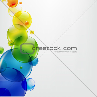 Abstract Background With Colorful Balls