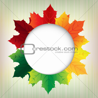 Autumn Leaves With Speech Bubble