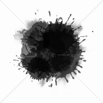 Black Grunge Blob