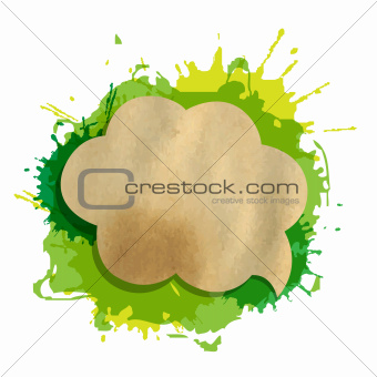 Green Grunge Blob With Speech Bubble