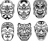 Japanese Nogaku Theatrical Masks