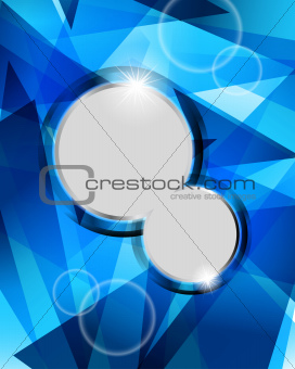 Technological blue background