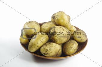 potato on plate