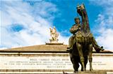 Giuseppe Garibaldi Statue and Muse with Harp on Top of Opera The