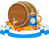 Oktoberfest keg and mug