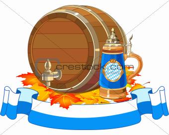 Oktoberfest keg and mug