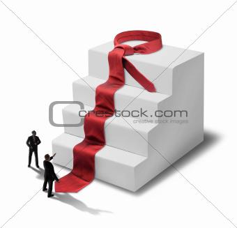 Businessmen success steps