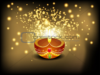 abstract diwali background with sparkle