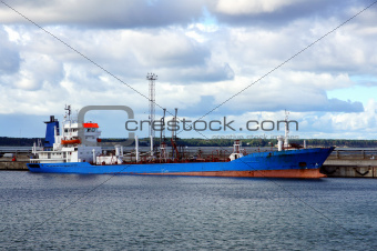Tanker in port