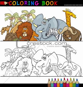 Wild Safari Animals for Coloring