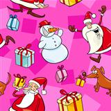Christmas Cartoon Seamless Pattern