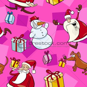 Christmas Cartoon Seamless Pattern