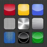 Glossy and metallic app icon templates