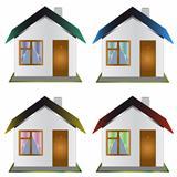 Four one-storeyed houses
