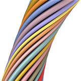 3d glossy twisted cable in multiple color on white