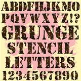 Grunge Stencil Letters