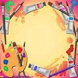 Art Equipment Background