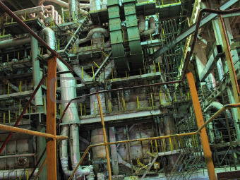 steam turbine machinery, pipes, tubes, at power plant