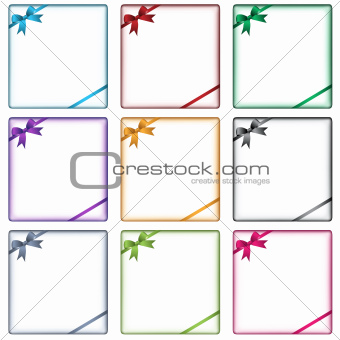 Business design elements and bows
