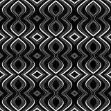 Seamless op art texture. Undulation illusion. 
