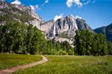 Yosemite meadow with Upper Yosemite Falls