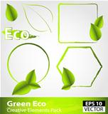 Green ecology design elements