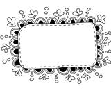 Hand made doodle frame