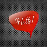 Abstract Metal Background With Red Speech Bubble
