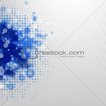 Blue Blobs With Grey Background