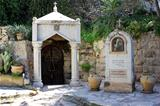 courtyard in the Church of St. Mary Magdalene in Gethsemane