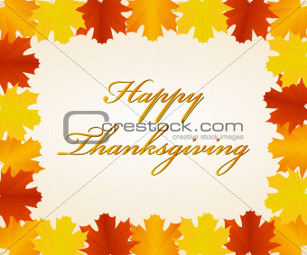 Thanksgiving day card