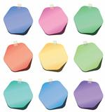 vector hexagon paper notes
