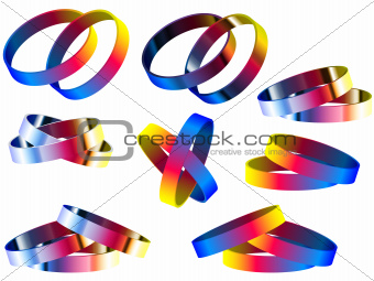 Gay Marriage Rainbow Rings and Bracelets