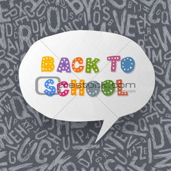 Back to school abstract background. Vector illustration, EPS10