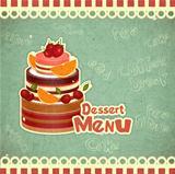 retro dessert  Menu