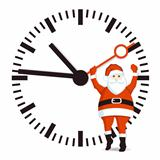 Santa with clock