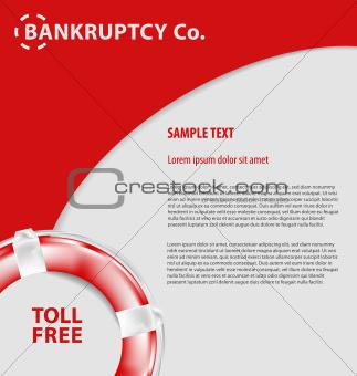 Corporate empty leaflet template