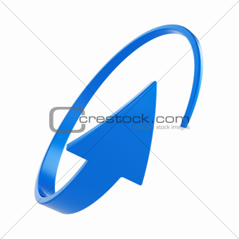 Blue round arrow