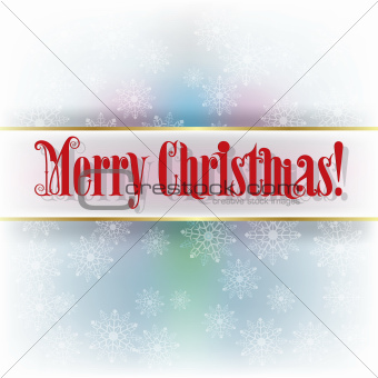 Abstract winter background with text Merry Christmas