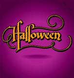 HALLOWEEN hand lettering (vector)