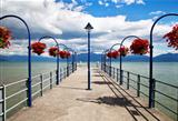 Lovely Dock in the city of Morges, Switzerland