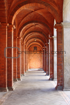 Romanic style colonnade