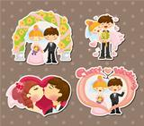 cartoon wedding set