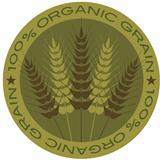 Wheat Stalk 100% Organic Grain Label