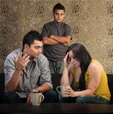 Worried Parents With Angry Son