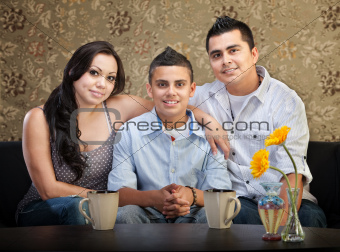 Hispanic Family of Three