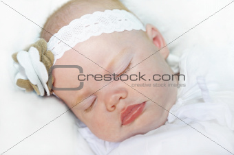 Adorable baby girl sleeping