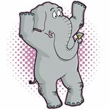 Gray Elephant Character