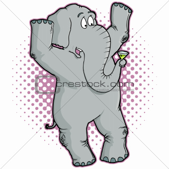Gray Elephant Character